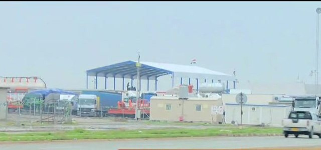 The customs office was closed at Fayida checkpoint on December 4, 2018. It links the Kurdistan Region's Duhok province to Nineveh province. Photo: Rudaw TV