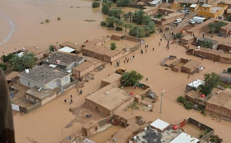 Aerial view of recent flooding in the Zarbatia district of Wasit governorate, Iraq, November 20, 2018. Photo: Iraqi Red Crescent Society