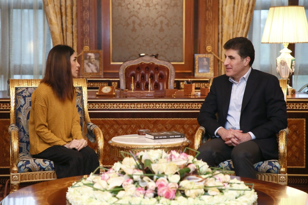 PM Barzani gives Nadia Murad's peace efforts full KRG support