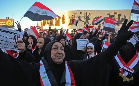 Baghdad protesters demand completion of government, reforms  417392Image1
