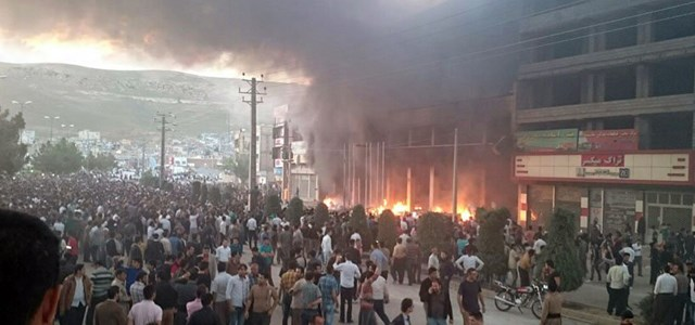 Riots erupted on Thursday in the streets of Mahabad