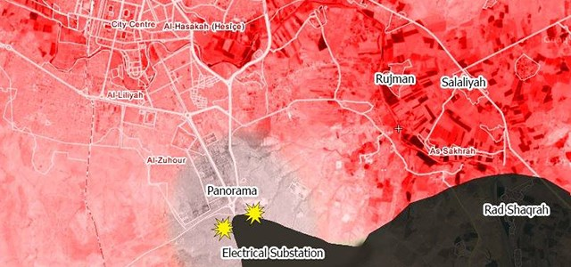 Current map of fighting in Hasaka