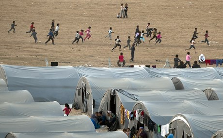 Syrian refugee camp. AP Photo
