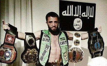 Valdet Gashi the Thai Kickboxing world champion. Photo: Islamic State social media.