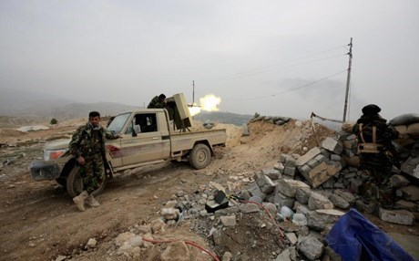 Peshmerga forces in Shingal AP file photo.