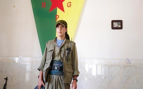 Dlovan, a 23-year-old Kurd from Kobane: