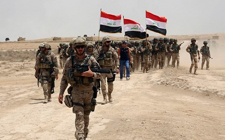 Soldiers in the Iraqi Army. AP file photo