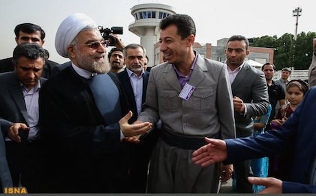 Iranian President Hassan Rouhani during a visit to the country's Kordestan province. Photo: ISNA