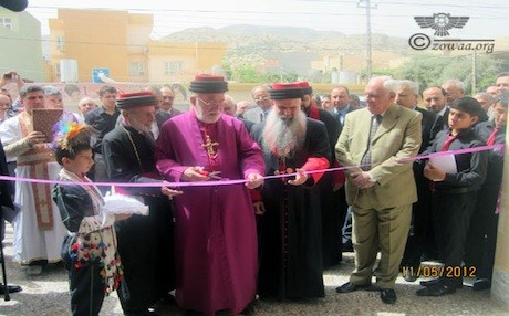 Assyrian Patriarch Mar Ada inaugurates St. Peter and St. Paul's Church in Duhok, May 2012. Photo: zowaa.org