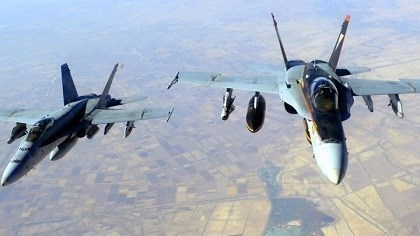 US F-18s flying over Iraq during military operations against the Islamic State. Photo: AFP/file