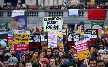 Demonstrations across Europe slam EU-Turkey anti-refugees accord