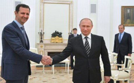 Syrian President Bashar al-Assad (left) met Russia's Vladimir Putin during a surprise visit to Moscow last October.  Photo: Ria Novosti.
