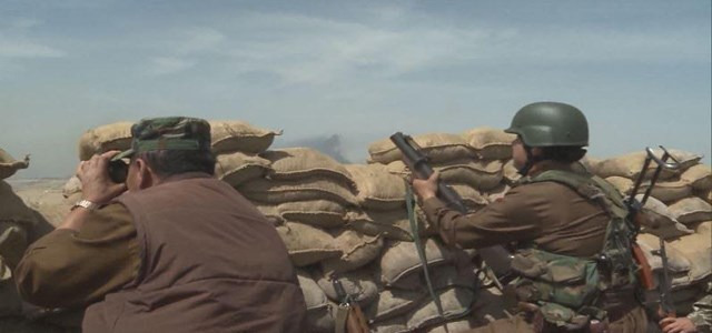 Peshmerga forces on the Nawaran front, 10km northeast of  ISIS-occupied Mosul. Rudaw photo.