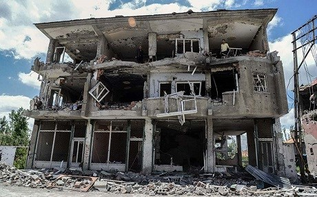 The town of Gavar, located at the juncture Turkey's borders with Iraq and Iran, was largely destroyed after weeks of clashes between security forces and the PKK. Photo: AFP