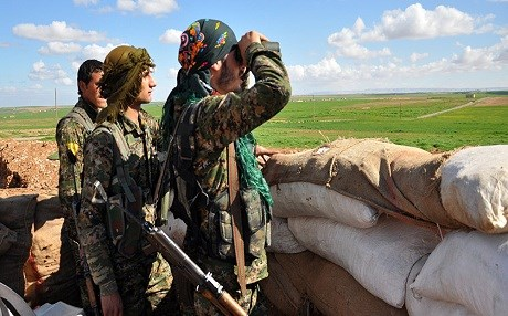 Syrian Kurdish forces advancing into Manbij. Photo: AFP