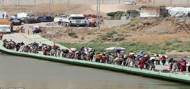 The Semelka crossing border between Rojava and Kurdistan Region of Iraq. AFP file photo.