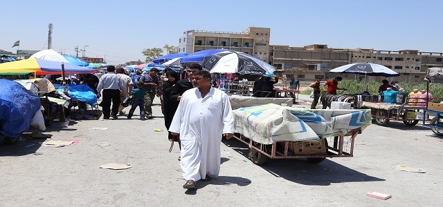 A man walking in the local market of downtown Kirkuk. Photo: Farzin Hassan/Rudaw