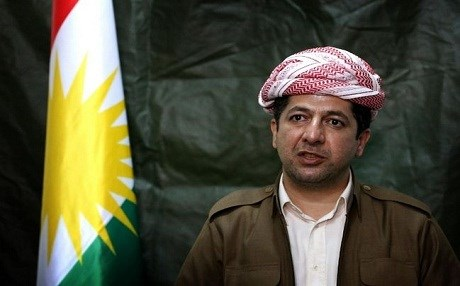 Masrour Barzani, the head of the Kurdistan Regional Government's (KRG) Security Council. AFP photo.