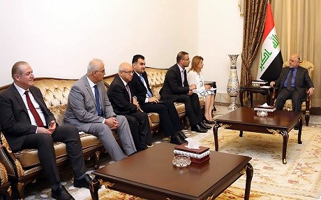 The joint PUK-Gorran delegation meet with Iraqi Prime Minister Haidar Al-Abadi in Baghdad.