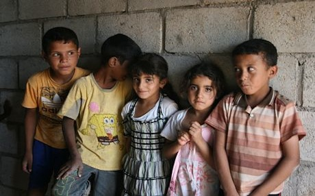 Children of Syrian Arab families who have resorted to the Kurdish areas for safety. Photo by Carl Drott