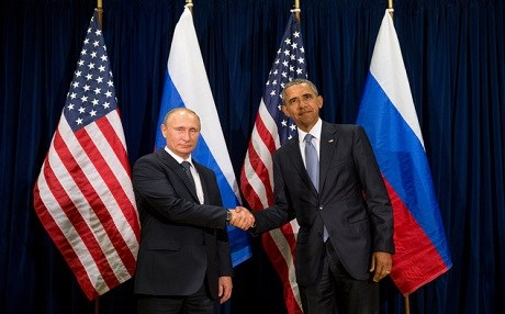 Russian President Vladimir Putin (left) and US President Barack Obama (right). AP file photo.