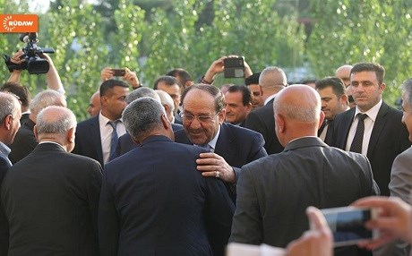 Former Iraqi prime minister Nouri al-Maliki welcomed by PUK leaders in Sulaimani. Photo: Rudaw