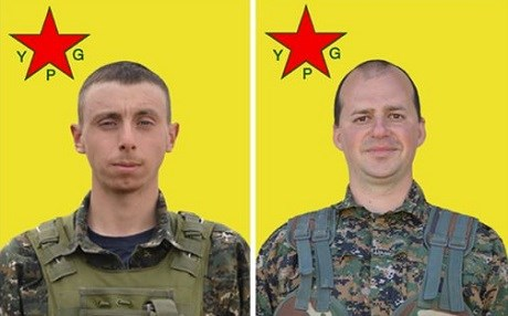 British Dean Carl Evans and Slovenian Martin Gruden, volunteers with the People's Protection Units, were killed in the operation to liberate Manbij. Photo: YPG