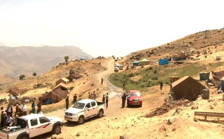 Families fleeing their villages amid Iranian bombardment. Rudaw file photo