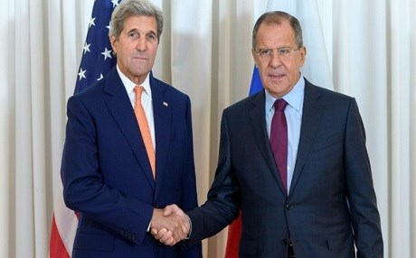 US Secretary of State John Kerry (L) met with Russian Foreign Minister Sergey Lavrov (R) in Geneva on Friday to discuss a ceasefire in Syria. Photo: Martial Trezzini/AFP