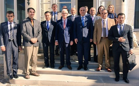 Kurdistan Regional Government representatives met with members of the Flanders regional government on Tuesday. Photo: Geert Bourgeois twitter