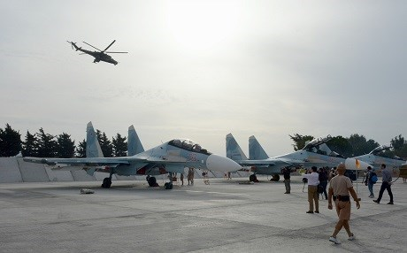Russian aircraft based in Syria. AP file photo.