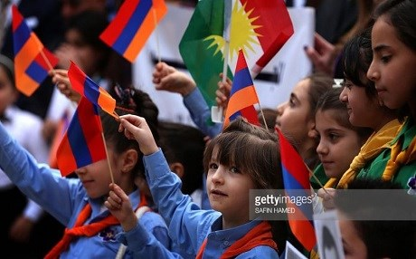 Kurdish language is now included in Armenian school curriculum. Photo: Safin Hamed/Getty Images
