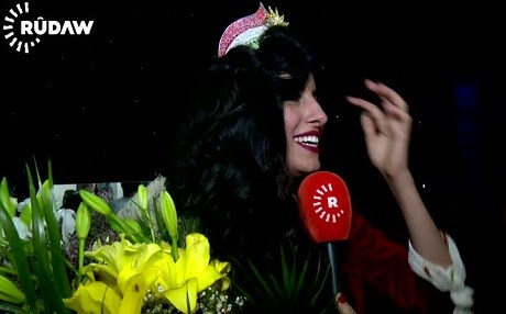 The winner, Zhalia Sirwan, is a 20-year old college student from Sulaimani. Photo: Rudaw video