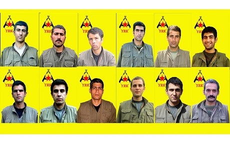 The East Kurdistan Defense Forces (YRK) published photographs of 12 of its fighters killed in Iran on October 4. Photo: PJAK