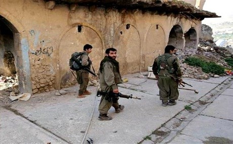 Kurdistan Workers' Party (PKK) fighters in Shingal. AP file photo.