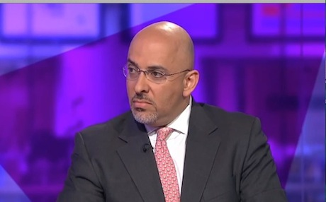 Conservative MP Nadhim Zahawi. Photo: Channel 4