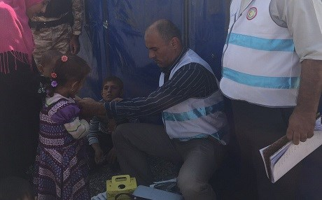 The World Health Organization and partners are vaccinating children in IDP camps. Photo: WHO EMRO/Twitter