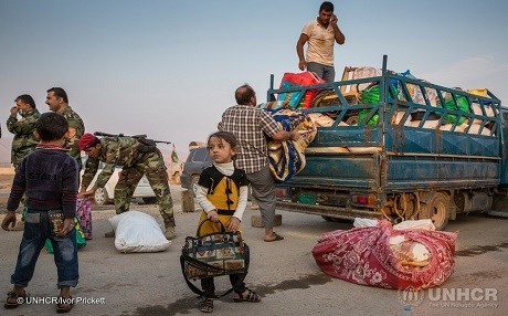 17,610 IDPs from Mosul and the surrounding area have fled since the military offensive began on October 17. Photo: Ivor Prickett/UNHCR