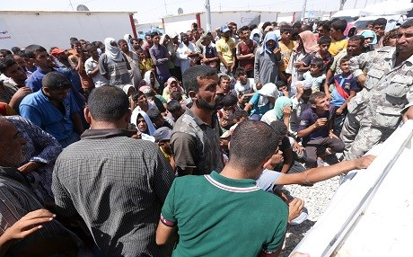 Internally displaced Iraqis in Dibaga camp. Photo: Farzin Hassan/Rudaw