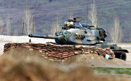 Iraq never authorized Turkey to deploy tanks and heavy weapons to its training camp in Bashiqa. AP file photo.