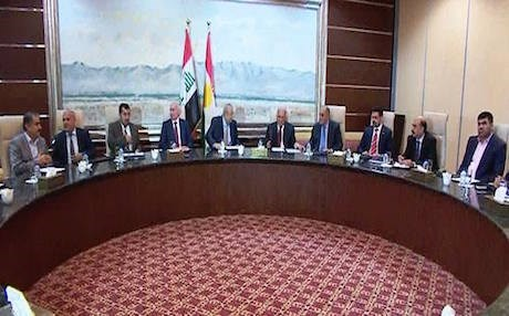 Rudaw file photo of leaders from five main Kurdish parties meeting in Erbil, September 13, 2015.