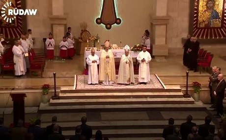 Christmas mass at Ainkawa's St. Joseph Cathedral. Photo: Rudaw video