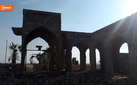 The ruins Mosul's Nabi Younis Mosque, believed to be the tomb of Jonah, pictured on the day the site was retaken by Iraqi forces. Photo: Rudaw