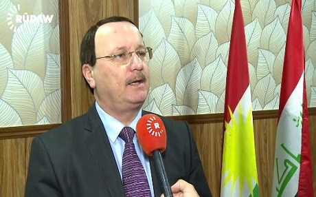 Khairi Botani, head of the KRG's Yezidi affairs office. Photo: Rudaw video