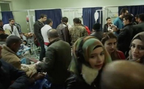 Erbil hospitals are overwhelmed caring for patients from Mosul. Photo: Rudaw video