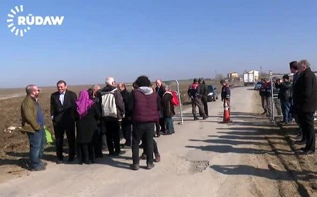 A European delegation of members of the European Parliament, the Council of Europe, academics, and journalists, was blocked from visiting Selahattin Demirtas in Edirne Prison. Photo: Rudaw video
