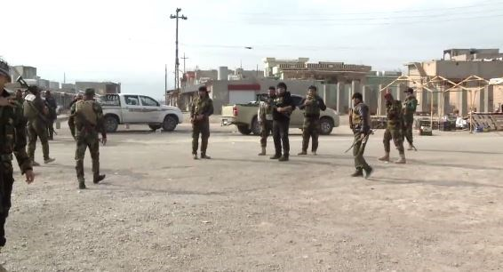 A number of Rojava Peshmerga deployed in the troubled Khanasoor town in Shingal region. Photo: Rudaw video