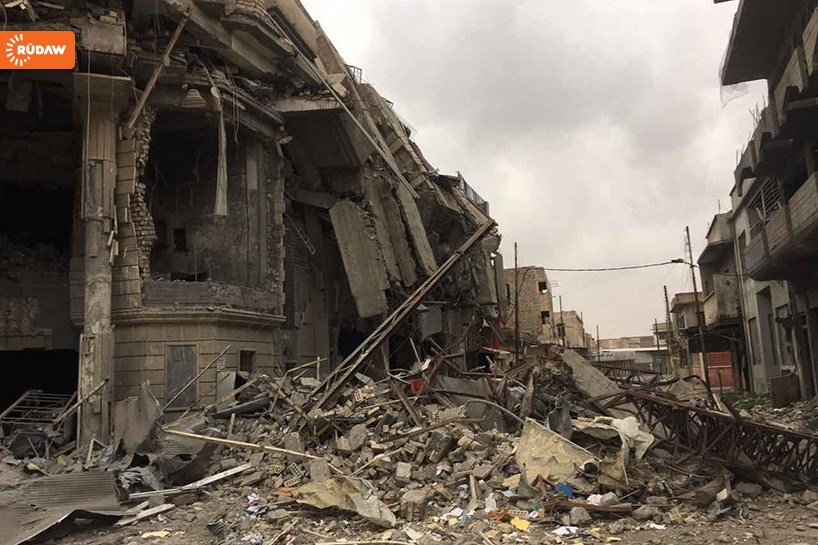 Near the governate building in western Mosul in February 2017. Photo: Ahmed Omer | Rudaw