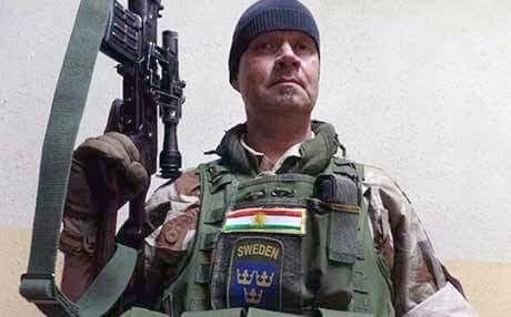 Swedish volunteer named as Tony by the Swedish media. He is said to have fought against the ISIS group in Iraq alongside the Kurdish Peshmerga. Photo: Private photo as published by the Swedish Aftonbladet
