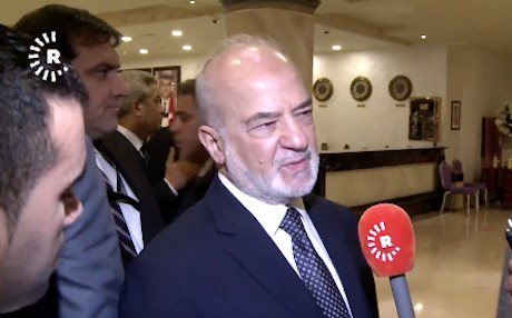 Iraq's Foreign Minister Ibrahim al-Jaafari speaking to Rudaw in Amman, Jordan.